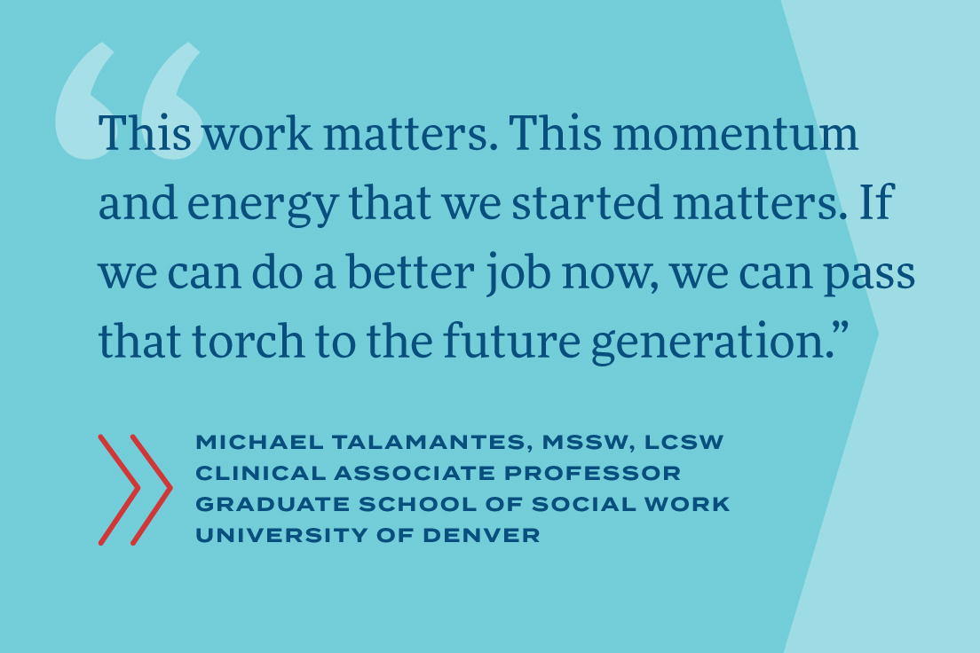 This work matters. This momentum and energy that we started matters. If we can do a better job now, we can pass that torch to the future generation.